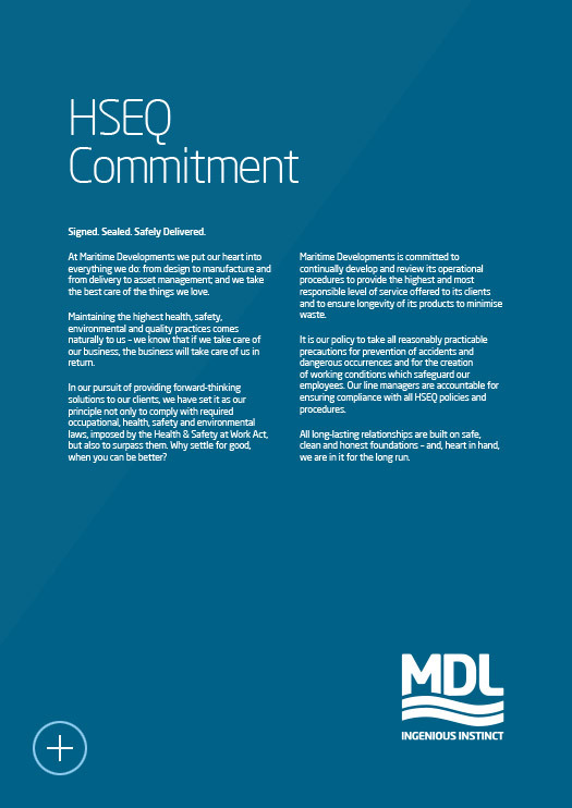 Maritime Developments | Our HSEQ Commitment