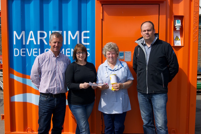 Maritime Developments raises £1,400 for Marie Curie Cancer Care