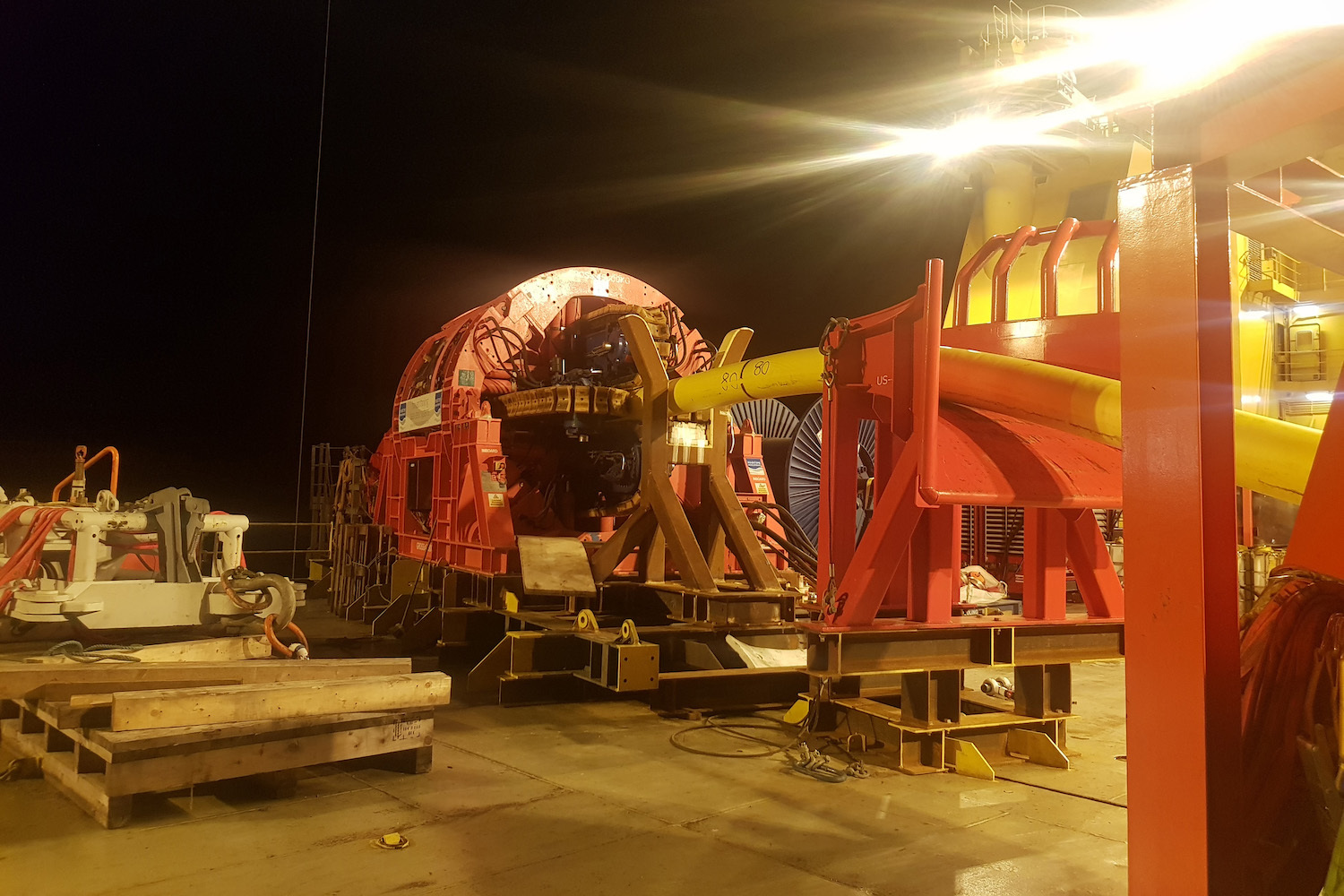 MDL Pipelay Tensioner on one of TechnipFMC North Sea Projects