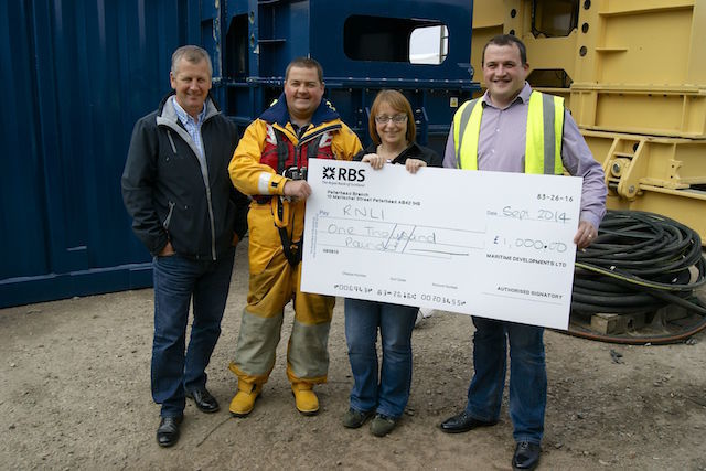 £1,000 raised for RNLI at Maritime Developments' event