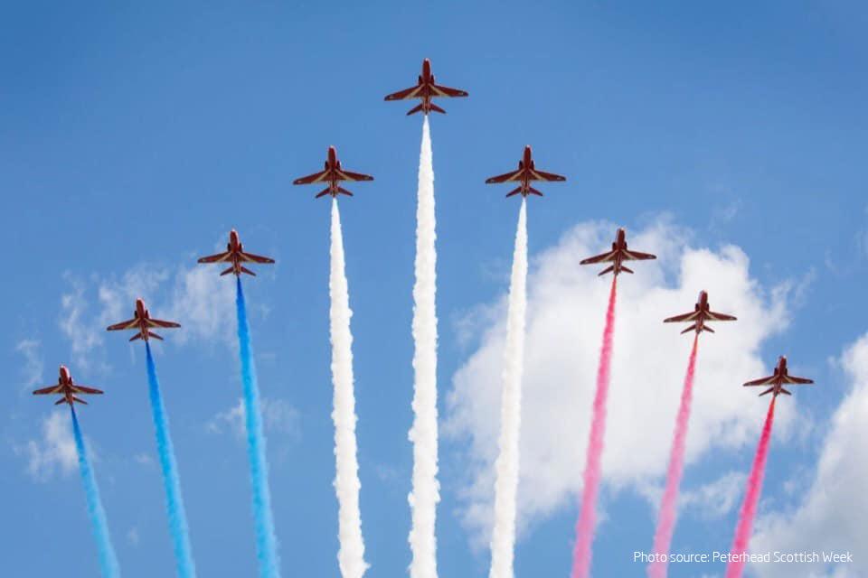 Bringing Red Arrows back to Peterhead skies