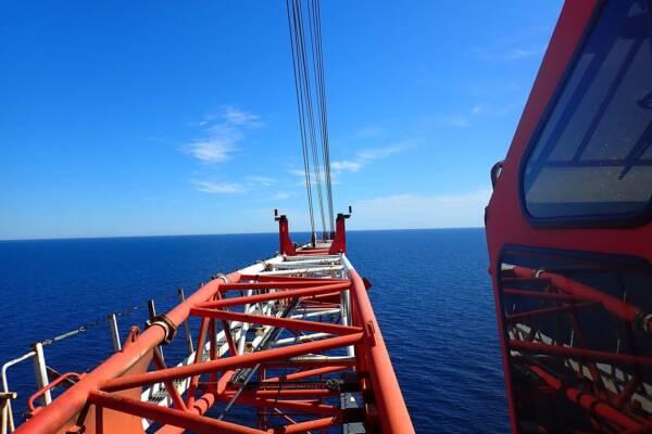 Platform crane fault