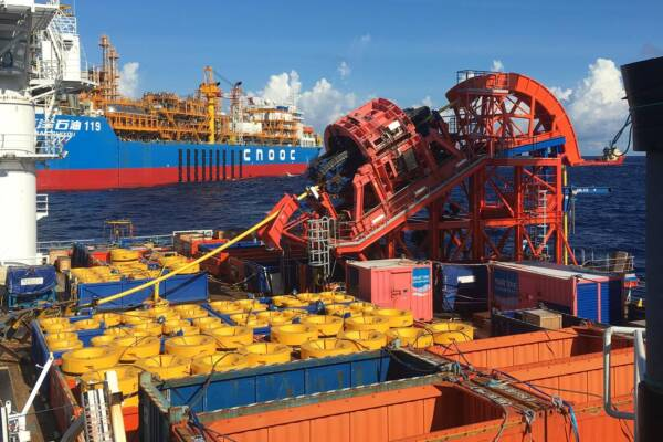 Cable installation offshore China