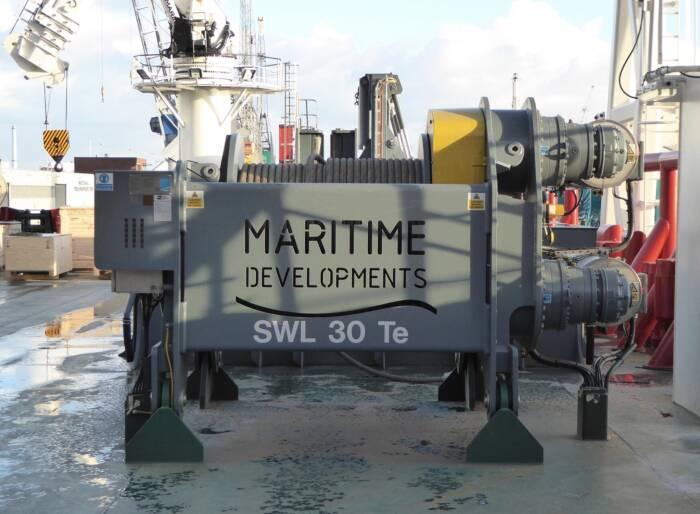 MDL 30 Te winch on board one of the PLSVs